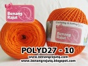 benang rajut medium POLYD27 POLOS - 10 (ORANGE)