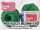 benang rajut medium POLY D27 BLINK - 14 (HIJAU TURKIS + SILVER)