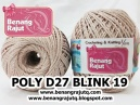 benang rajut medium POLY D27 BLINK - 19 (KREM + SILVER)