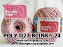 POLY D27 BLINK - 24 (SOFT PINK + PUTIH + SILVER)