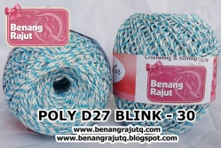 benang rajut medium POLY D27 BLINK - 30