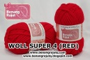benang rajut - WOLL SUPER 4 (RED)