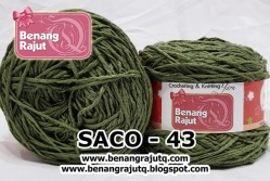 benang rajut smooth SACO - 43 (!! NEW !!)