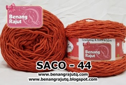 benang rajut smooth SACO - 44 (!! NEW !!)