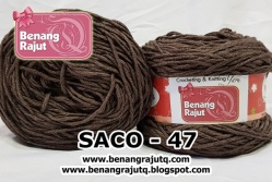benang rajut smooth SACO - 47 (!! NEW !!)