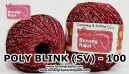 benang rajut medium POLY D27 BLINK (SV) - 100 (MAROON)