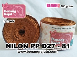 benang rajut - NILON PP D27 - 81 (BROWN)