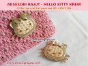 AKSESORI RAJUTAN - HELLO KITTY KREM