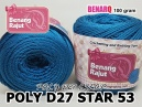POLY D27 STAR 53 BLUE TOSCA
