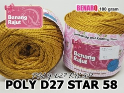 POLY D27 STAR 58 GOLD RED