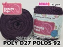 POLY D27 POLOS 92 MAROON SOLID
