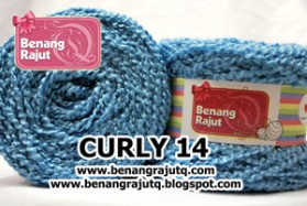 benang rajut limited CURLY 14 - BIRU NAVY