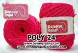 benang rajut POLY 24 - HOT PINK