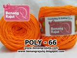 benang rajut POLY 66 - ORANGE STABILO (new!!!)