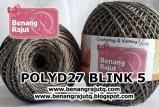 benang rajut medium POLYD27 BLINK 5 (BROWN-SILVER)