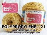 benang rajut medium POLYPROPYLENE - 21 - LIGHT GOLD