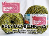 benang rajut medium POLY D27 BLINK - 25 (KUNING + ABU2 TUA + GOLD)