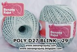 benang rajut medium POLY D27 BLINK - 29