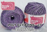 benang rajut medium POLY D27 BLINK - 27
