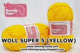 benang rajut - WOLL SUPER 5 (YELLOW)