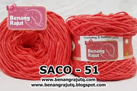 benang rajut smooth SACO - 51 (!! NEW !!)