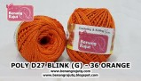 benang rajut medium POLY D27 BLINK (G) - 36 ORANGE