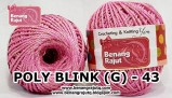 benang rajut medium POLY D27 BLINK (G) - 43 (PINK)