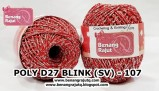 benang rajut medium POLY D27 BLINK (SV) - 107