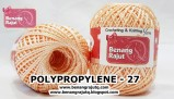 benang rajut medium POLYPROPYLENE - 27 ORANGE MUDA