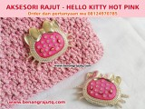 AKSESORI RAJUTAN - HELLO KITTY HOT PINK
