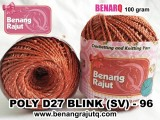 benang rajut medium POLY D27 BLINK (SV) - 96