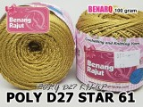 POLY D27 STAR 61 GOLD KHAKI