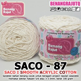 SACO87 I SMOOTH ACRYLIC COTTON-87