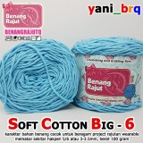 SCB 6 I SOFT COTTON BIG 6 BIRU MUDA BENANG RAJUT Q